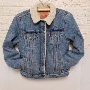 Levi Sherpa lined denim jacket -M-